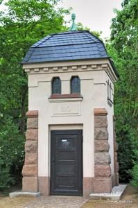 restaurierte Trafostation der Stadtwerke Leipzig