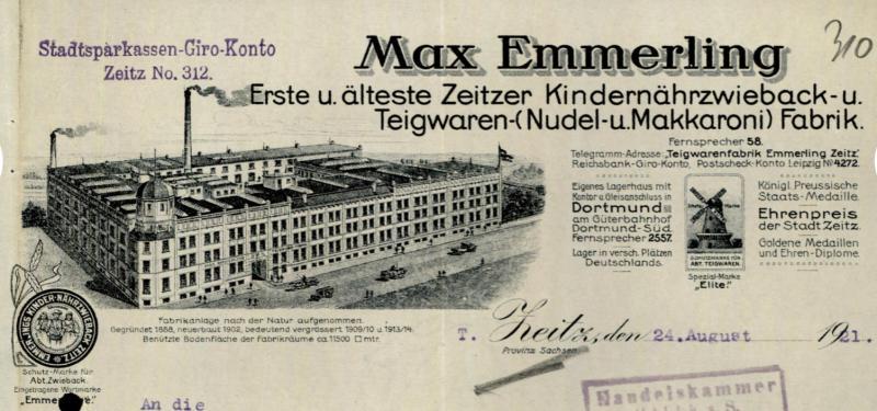 Vortrag »Max Emmerling und seine Zeitzer Kinderzwieback- und Teigwarenfabrik. Das Fabrikgebäude an der Paul-Rohland-Straße in Vergangenheit, Gegenwart und Zukunft«