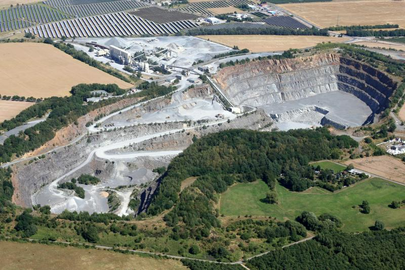 Betriebsführung im Steinbruch Lüptitz