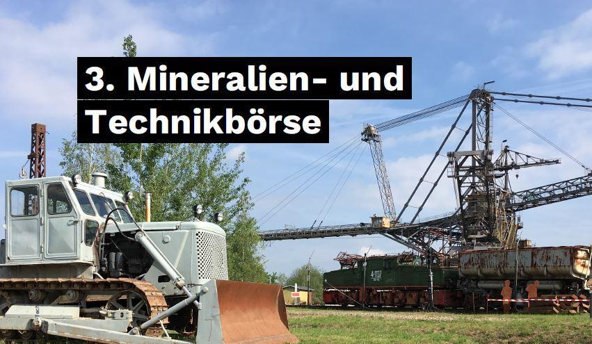 3. Große Mineralien- und Technikbörse im Bergbau-Technik-Park – 05.09.–06.09.2020, 10.00–17.00 Uhr
