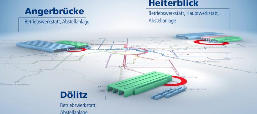 Betriebsführung im Technischen Zentrum Heiterblick der Leipziger Verkehrsbetriebe