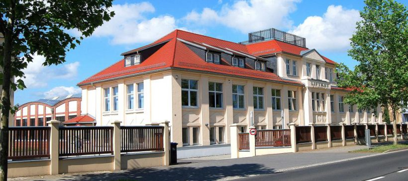 Einweihung der Tafel für den Stadtwanderweg Industriekultur Wurzen und Besichtigung der HOFFMANN Fördertechnik GmbH Wurzen