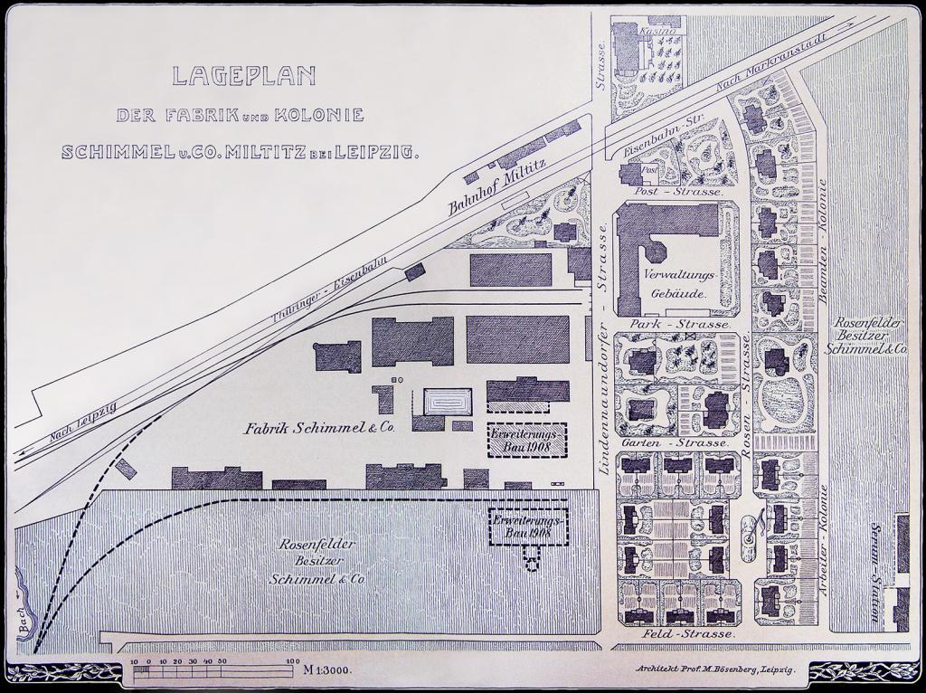 Führung durch die historische Anlage der Werkssiedlung Schimmel & Co. in Leipzig-Miltitz – 24.08., 10.00 Uhr