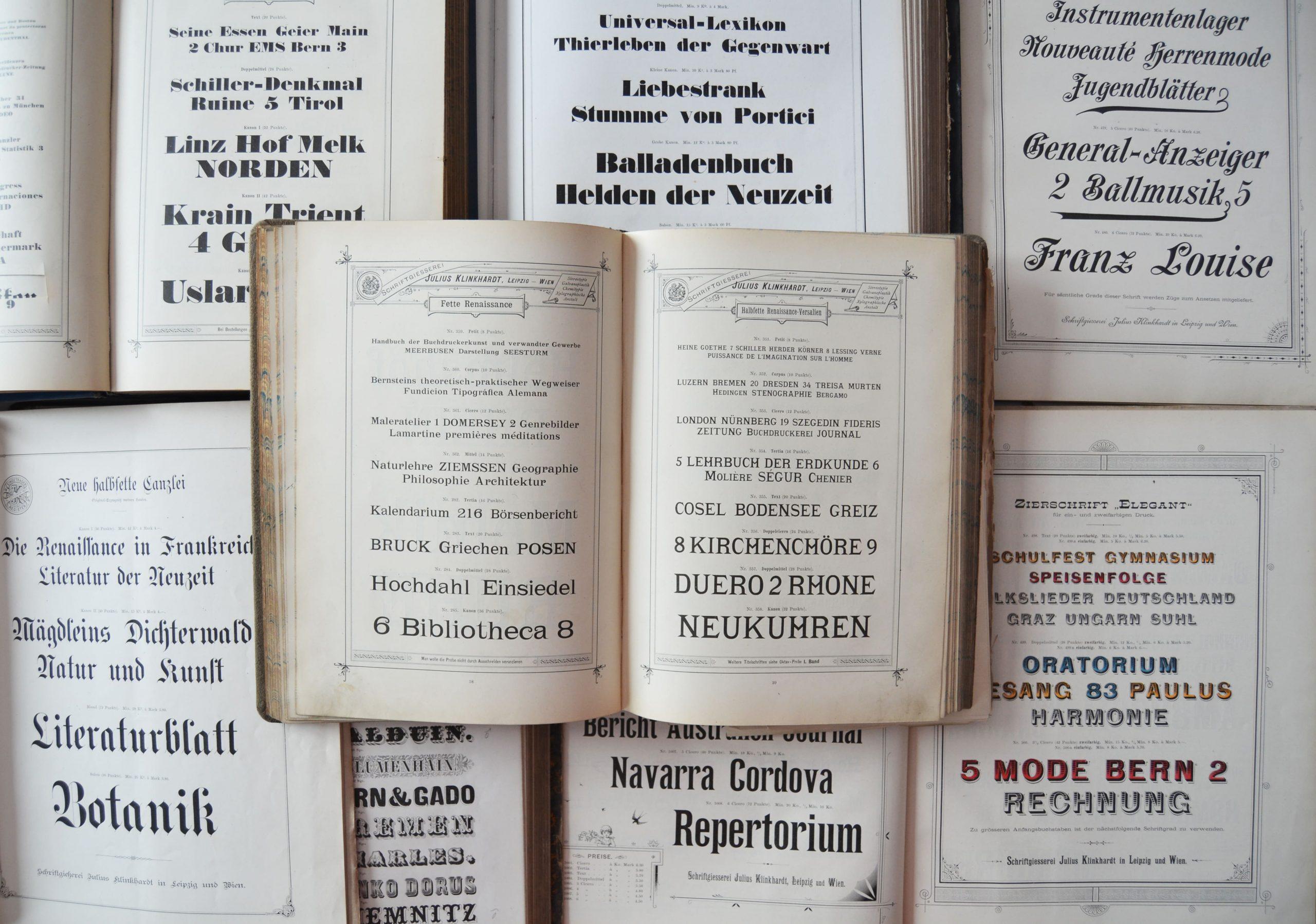 Führung »Marketing für Schrift. Schriftmusterproben als besondere Zeugnisse des grafischen Gewerbes« – 11.09.2021, 16.30 Uhr